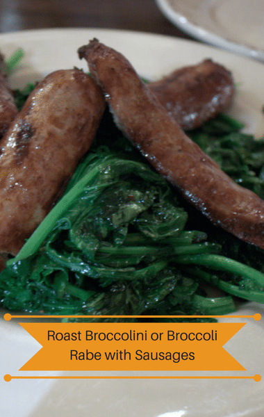 Rachael Ray: Roast Broccolini Or Broccoli Rabe + Sausages Recipe