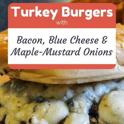 Rachael ray turkey burgers bacon blue cheese onions for Blue cheese burger recipe rachael ray