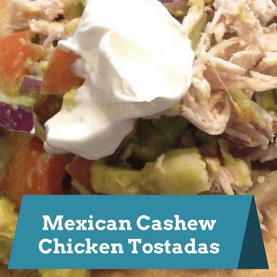 Rachael Ray: Mexican Cashew Chicken Tostadas Recipe