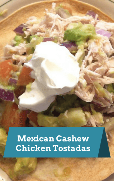 Rachael Ray: Mexican Cashew Chicken Tostadas Recipe