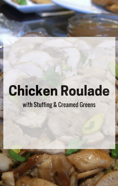 The Chew: Chicken Roulade With Stuffing & Creamed Greens Recipe