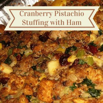 The Chew: Cranberry Pistachio Stuffing With Ham Recipe