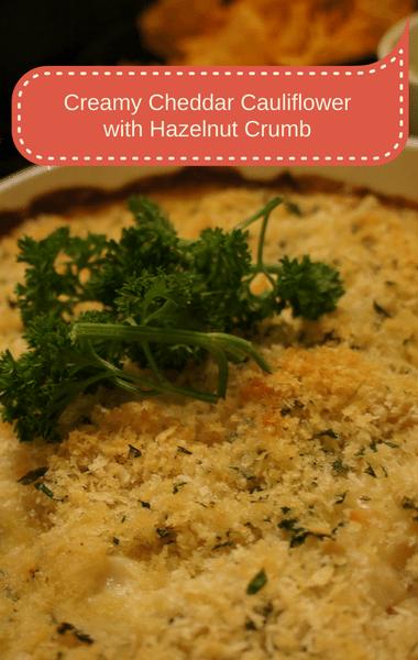 Rachael Ray: Creamy Cheddar Cauliflower + Hazelnut Crumb Recipe