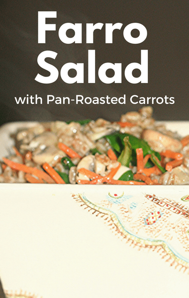 The Chew: Farro Salad With Pan-Roasted Carrots Recipe