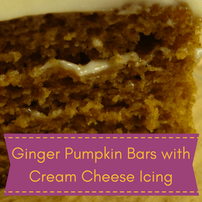 The Chew: Ginger Pumpkin Bars With Cream Cheese Icing Recipe