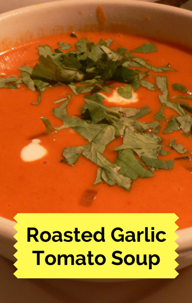 Rachael Ray: Roasted Garlic Tomato Soup + Cheesy Garlic Bread