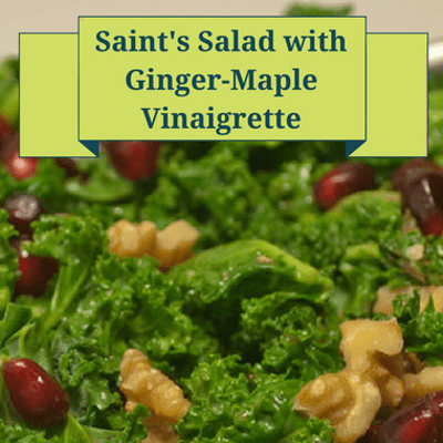 The Chew: Saint's Salad With Ginger-Maple Vinaigrette Recipe