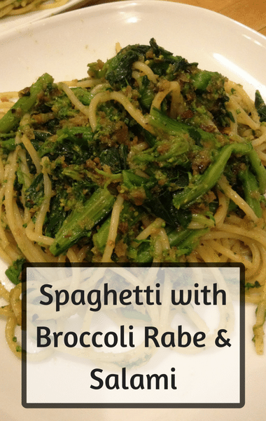 Rachael Ray: Spaghetti With Broccoli Rabe & Salami Recipe