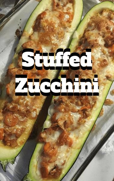 Rachael Ray Vegetarian Stuffed Zuchini Recipe
