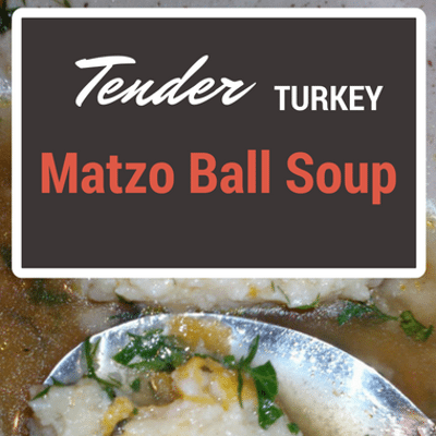 The Chew: Tender Turkey Matzo Ball Soup Recipe