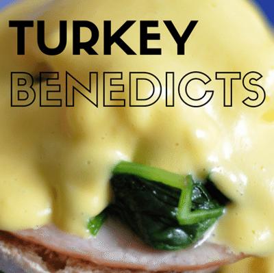 Rachael Ray: Breakfast-For-Dinner Turkey Benedicts Recipe