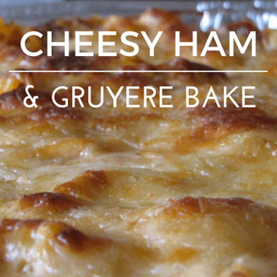 The Chew: Cheesy Ham & Gruyere Bake Recipe