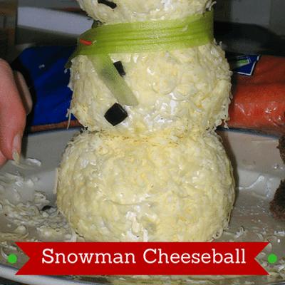 Rachael Ray: Katie Lee Snowman Cheeseball Recipe